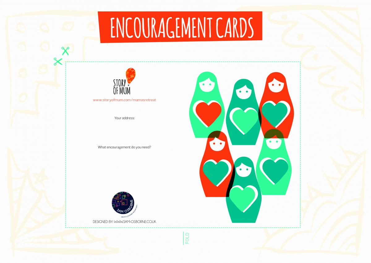 Printable Encouragement Cards from Sam Osborne for Story of Mum's DIY Mamas' Retreat Kit