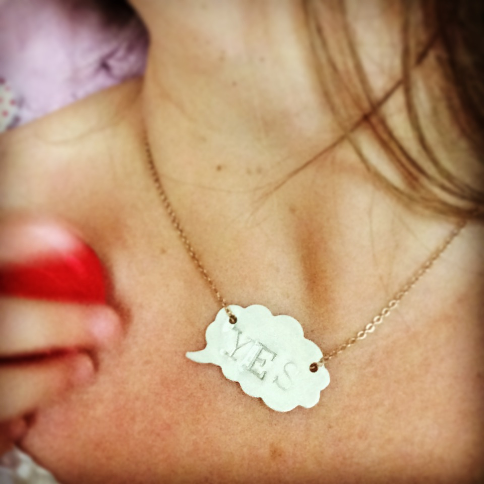 Win a YES necklace from Stuff Made With Things via Story of Mum