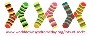 Lots of socks for World Down Syndrome Day