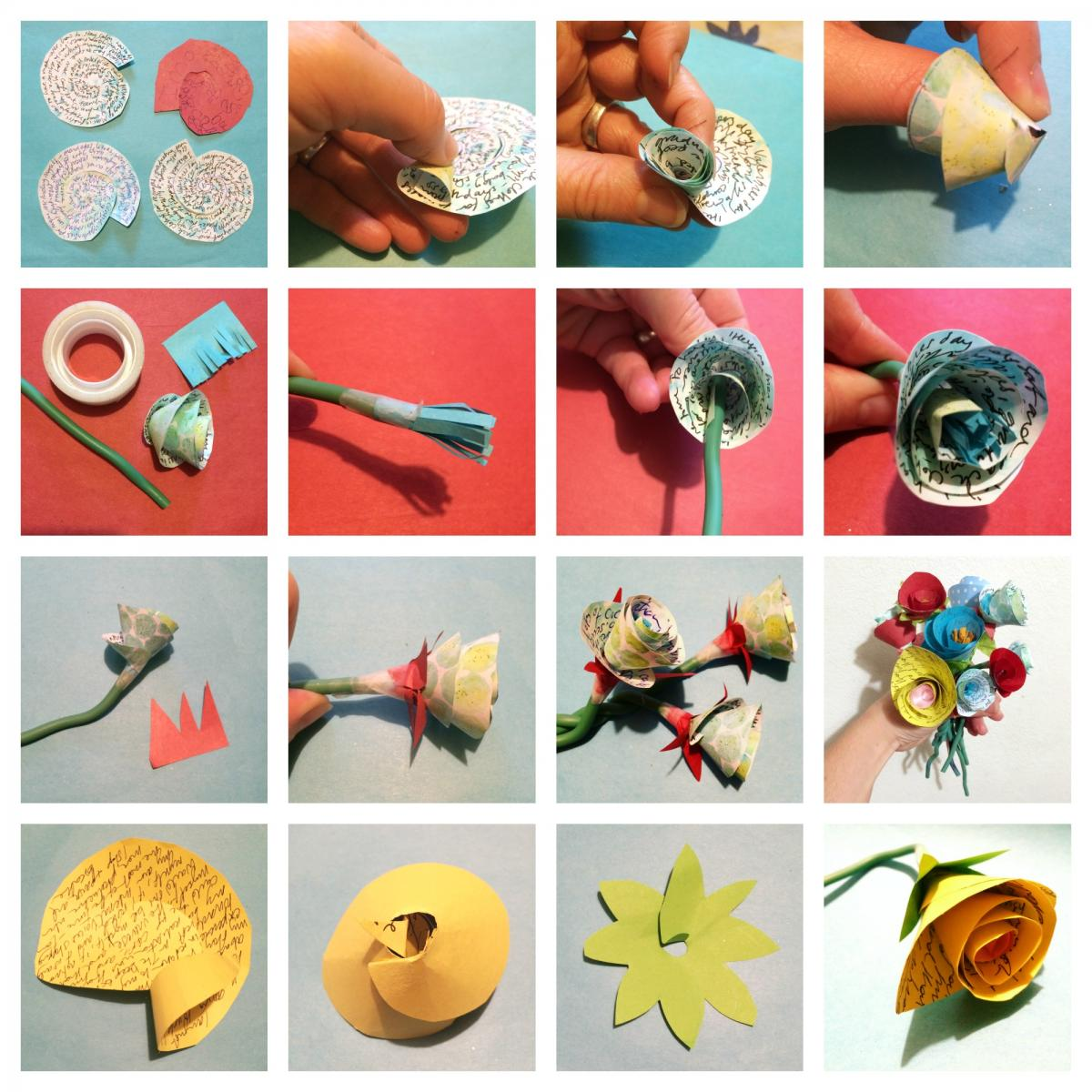 Join us on Weds to remember our year in paper flowers