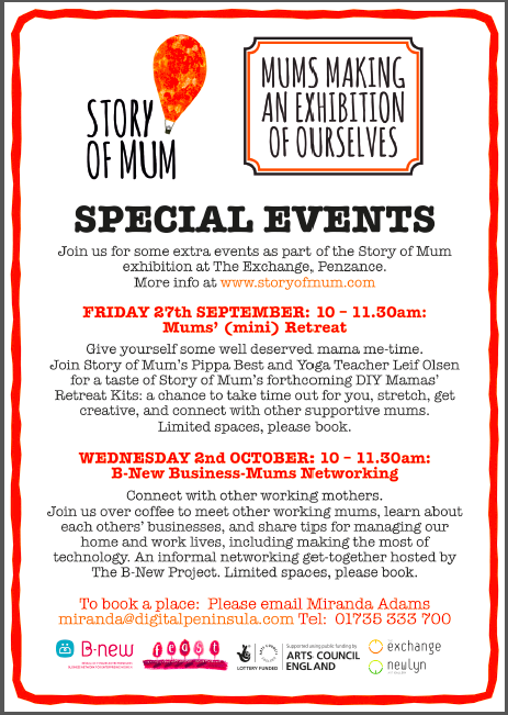 flyer for events at the Exchange