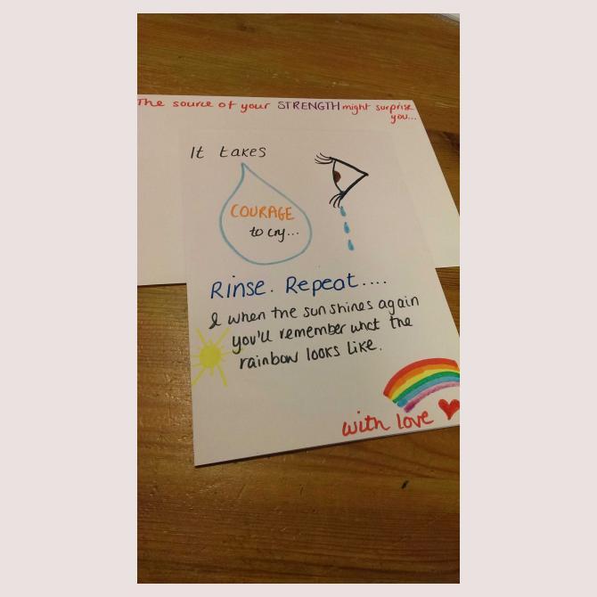 Encouragement card by Rachael