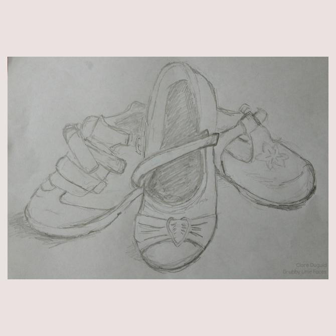 Pick them up, put them on, take them off & tidy them away.. My children's shoes.