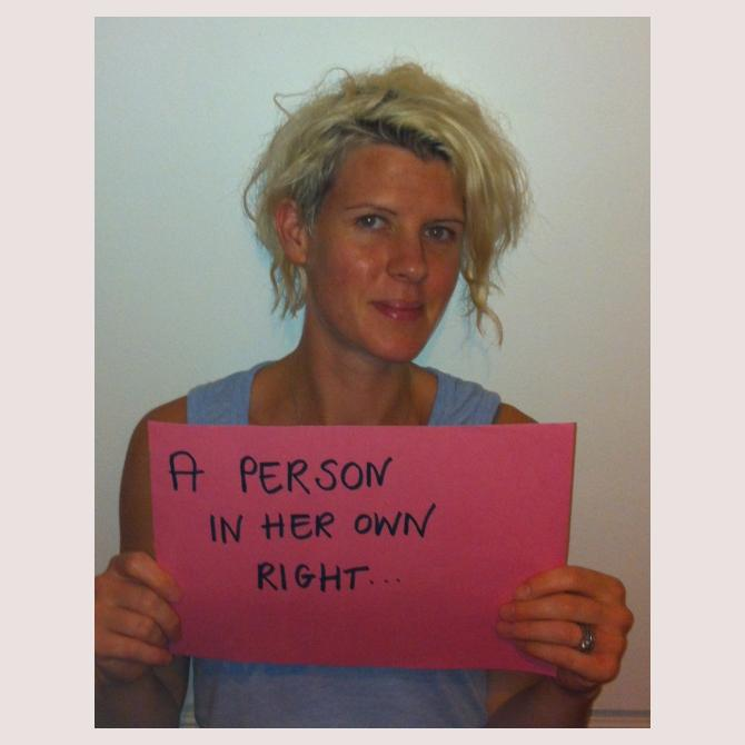 Person in her own right...