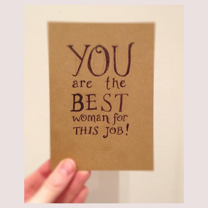 Encouragement card by Mum of Wiss