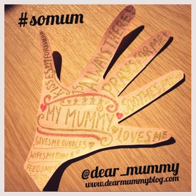 Dear Mummy Blog: My mummy's hand created by me!