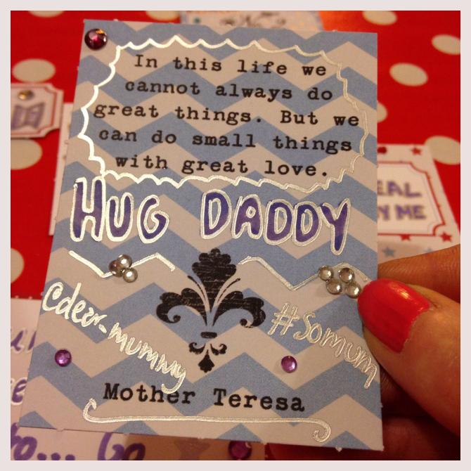 Dear Mummy Blog Token 1 - make time to hug daddy
