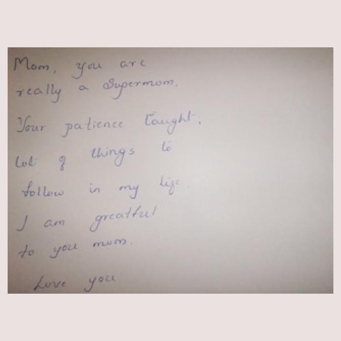 Sweetmum's Postcard to a Supermum