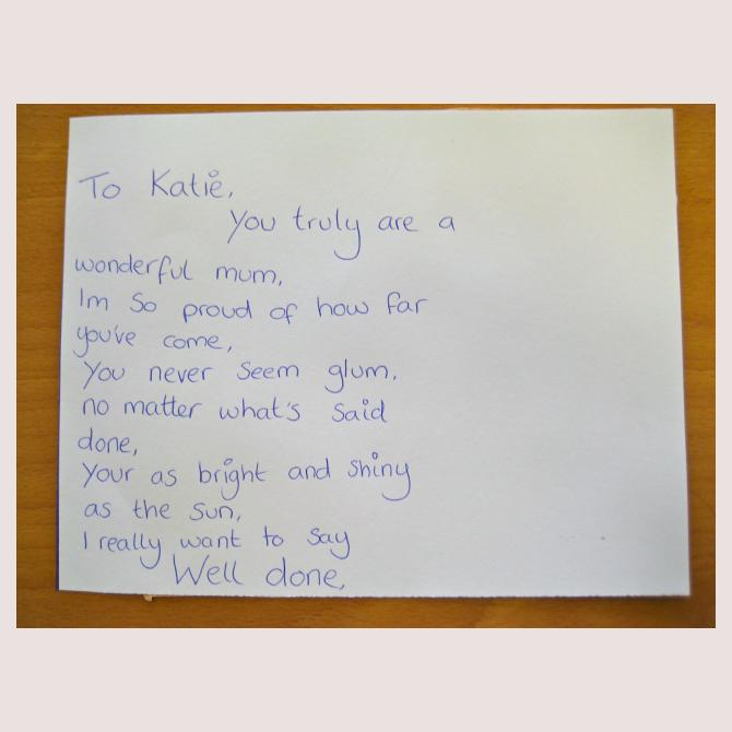 Stevie's Postcard to a Supermum
