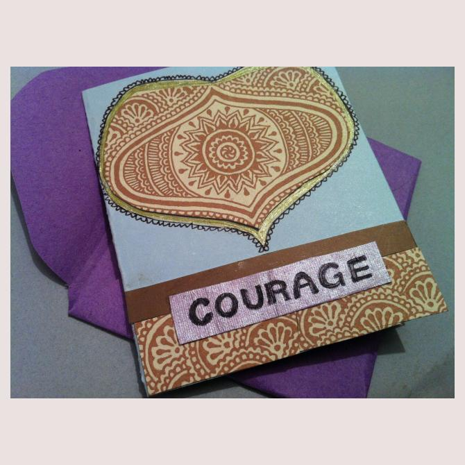 Encouragement card by Pippa