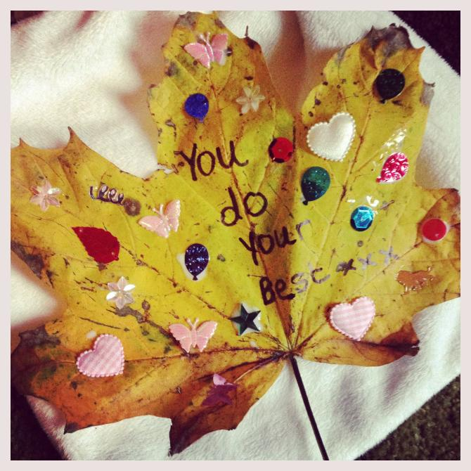 CupcakeMumma's Leafy Love-Note