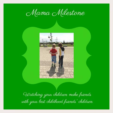 Share one of your mothering Milestones with Story of Mum - an alternative baby book for mothers