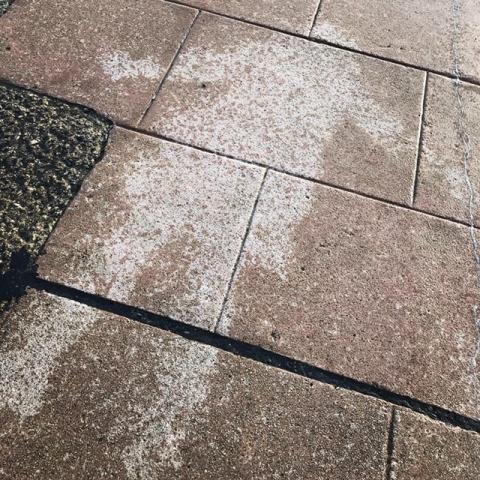 Rain angel - mark left on pavement where body has lain while it was raining