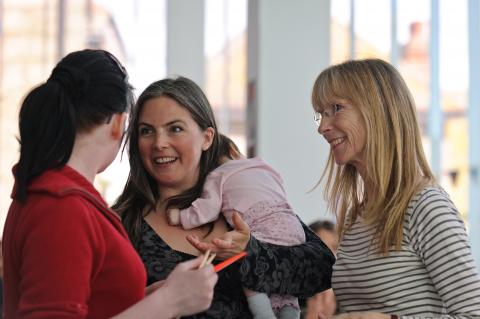 Pippa and Penny Best at the launch of Story of Mum