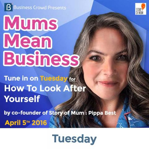 Pippa Best speaking at Mums Mean Business
