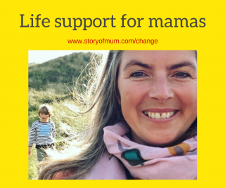 Life support for mamas: help to feel less stressed, overwhelmed and exhausted. One to one support and coaching from Story of Mum - how to be a happier stronger mother.