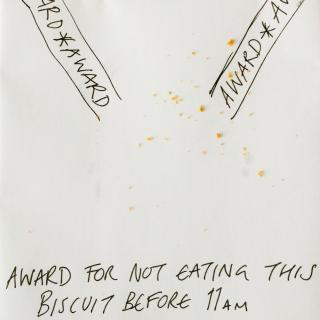 Ex award for not eating this biscuit before 11am