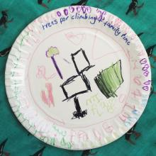 Grateful Plate made by my daughter