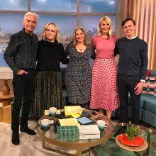 Pippa Best appearing on This Morning with Holly Willoughby, Philip Schofield, Ellie Smith and Dr Patrick Kennedy WIlliams