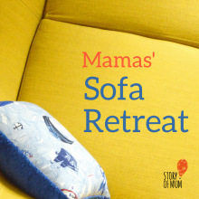 Sofa Retreat: Mamas' Mini Sofa Retreat is a lovely mothers day gift for mums in need of some rest, relaxation, and encouragement: mum friends, no more mum guilt, more confidence and lots of laughter