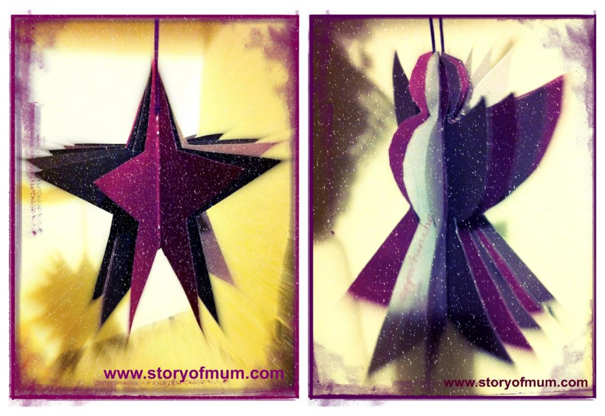 Make an angel or star with Story of Mum to capture your wishes for the year