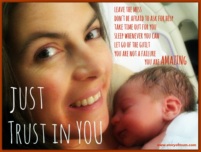 Looking back at yourself as a new mama, what do you wish you could tell yourself?